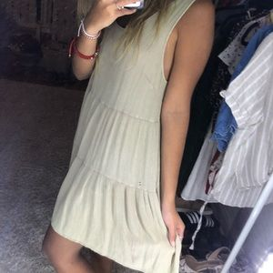 beige loose dress